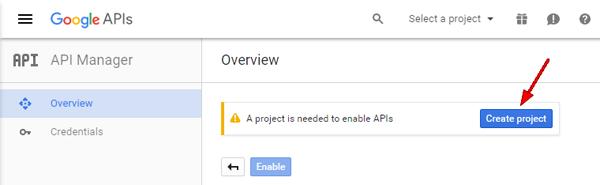 google-create-project
