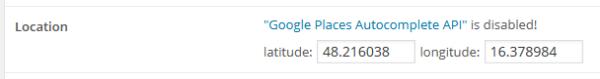 Google-Orte-deaktiviert