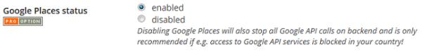 Google-Orte-Status