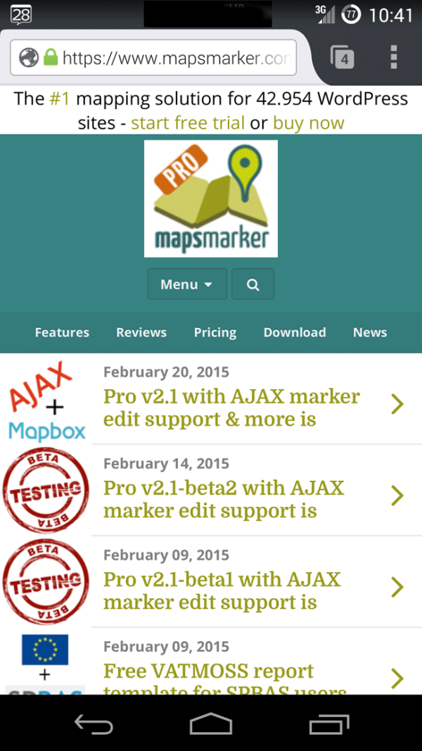 Mapsmarker-mobile-website