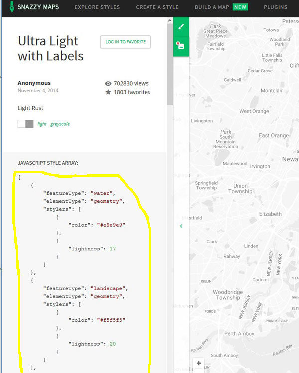 How to configure different styles for Google Maps basemaps