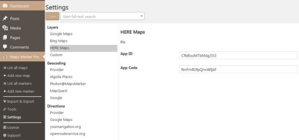 How to register a HERE account » Maps Marker Pro
