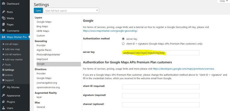 How to setup Google geocoding » Maps Marker Pro