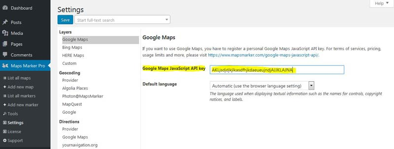 How to register a Google Maps API key » Maps Marker Pro