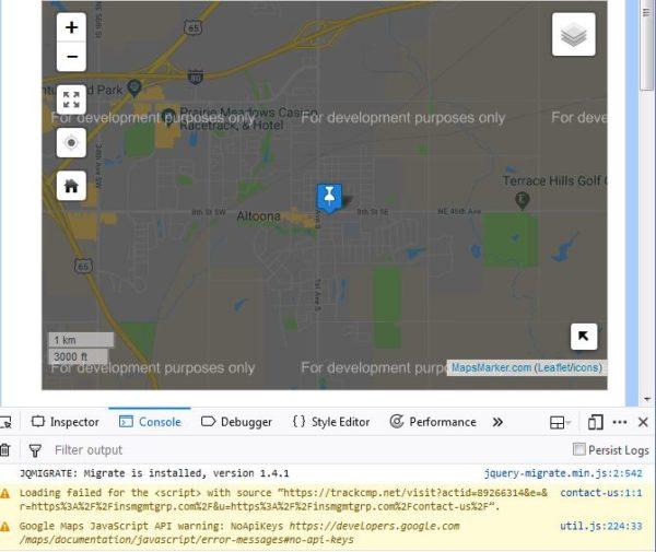 For Development Purposes Only Error On Google Basemaps
